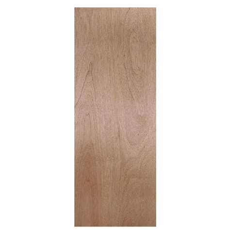 Interior Slab Doors Shop Reliabilt Flush Hollow Smooth Non Bored Interior Slab Door Common 30 In X 80 In