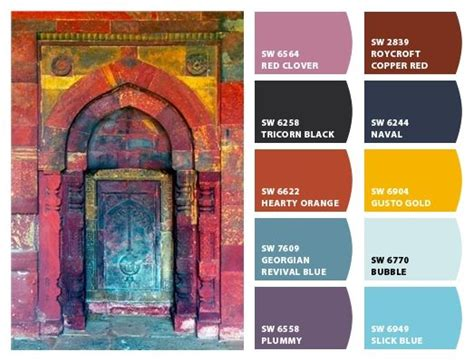 bohemian color scheme colors bohemian and doors on pinterest