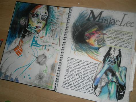sketch book for the artist minjae artist research pag by cookjordan on deviantart