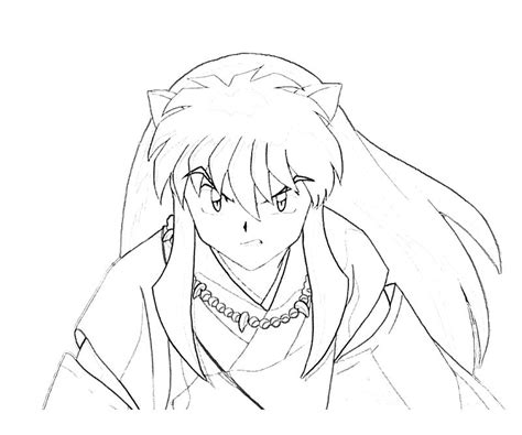 inuyasha coloring pages free inuyasha y kagome coloring pages