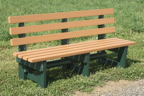 commercial park bench 6 foot poly wood commercial park bench