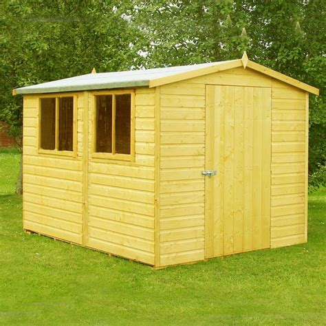 Sheds Buy by Buy Homewood Lewis Shiplap Wooden Shed 12 X 8ft At Argos