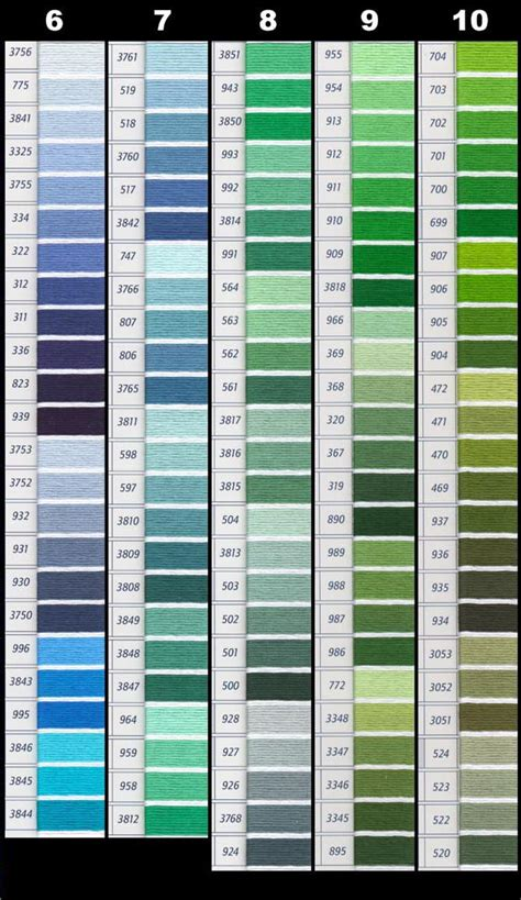 dmc color chart pdf printable dmc color chart complete pictures to pin on