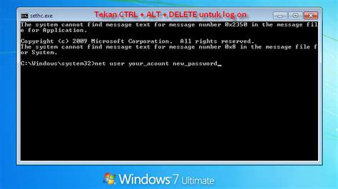 reset password windows xp tanpa software marom cara reset password administrator waktu instal