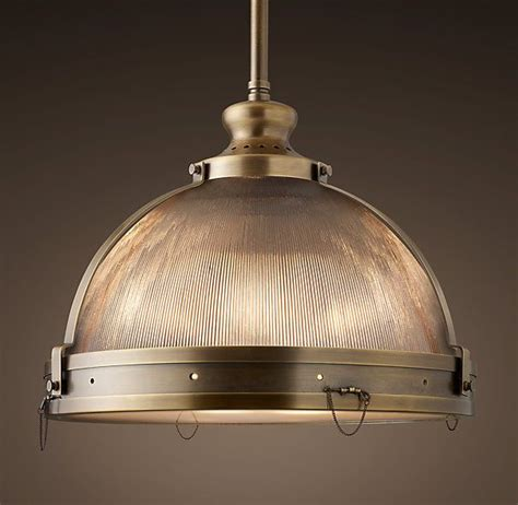 clemson prismatic single pendant restoration hardware is