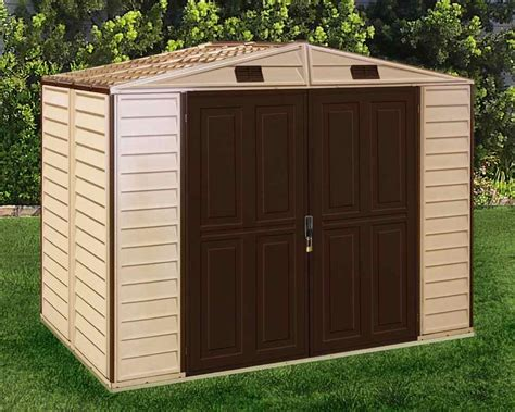 Shed Vinyl by Duramax 8x6 Storeall Vinyl Shed With Foundation 30115