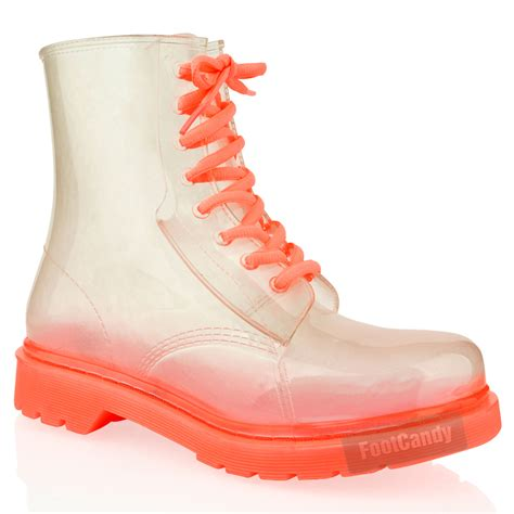 Jella Welly by Womens Flat Clear Festival Jelly Wellies Wellington