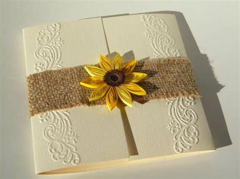 Hochzeitseinladung Jute by Jute Sonnenblume Einladung Landhaus Sonnenblume