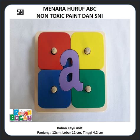 Balok Susun Angka Mainan Kayu rumah bocah mainan anak edukatif 0821 3704 9901