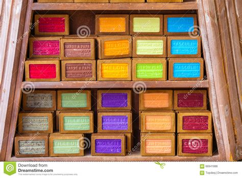 Handmade Shop - handmade soap in a shop in provence