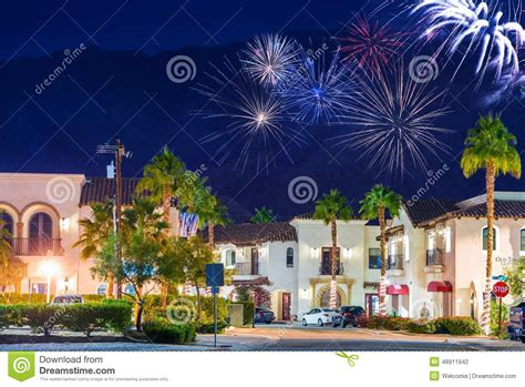 new year in valley town la quinta fireworks stock photo image 48911942