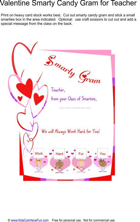 Gram Card Template by 17 Best Images About Valentines Day Ideas Grams