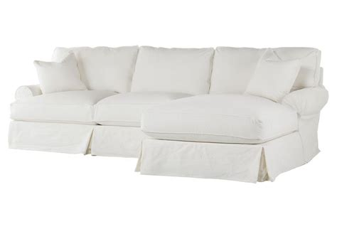 White Slipcovered Sectional Sofa comfy sectional white slipcover only