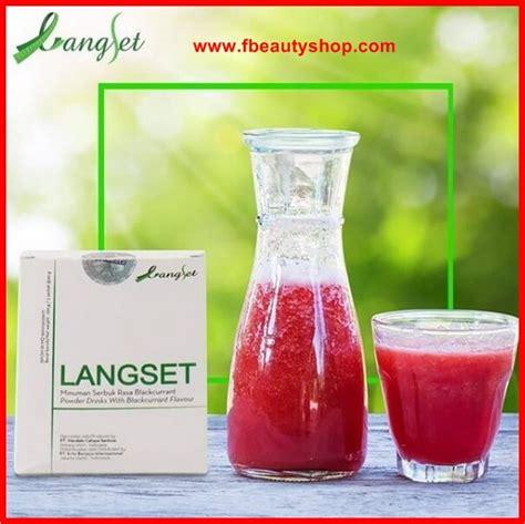 Langset Pelangsing Herbal langset minuman pelangsing herbal bpom