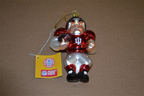 indiana hoosiers ncaa christmas ornament set of 3