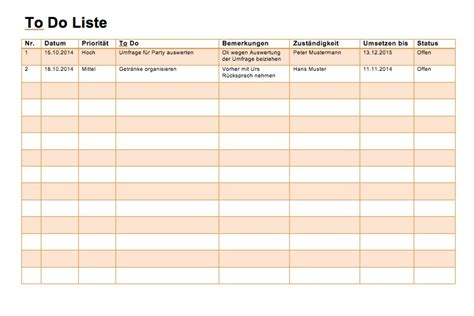 to do liste word und excel muster vorlage ch