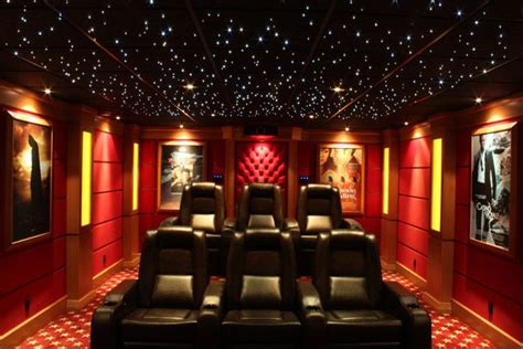 home theater  starry ceiling track  recessed