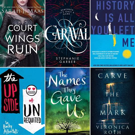 best novels series best ya books of 2017 popsugar