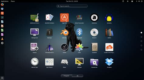 Gnome Top Bar by Black Lab Linux Is Gnome 3 S Best Friend Reviews Linuxinsider