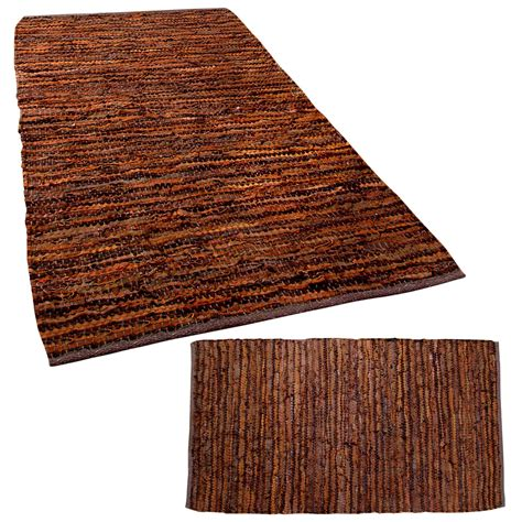 cowhide rugs denver denver leather woven rugs black and chocolate modern rectangle ebay