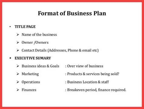 business plan format in nigeria formal business plan format memo exle
