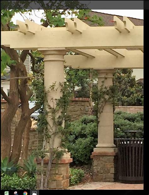 tuscan pergola round pergola columns tuscan style