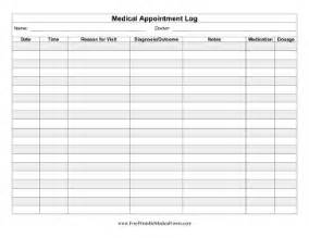 Free Personal Health Record Template by Printable Health Appointment Record
