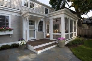 Concrete Corbels Greek Revival Remodel Screened Porch Traditional