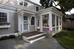Greek revival remodel screened porch traditional
