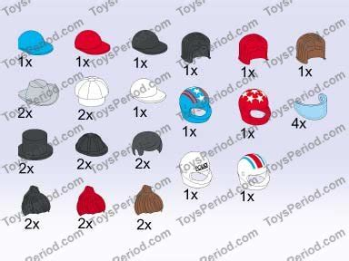 Lego Hair Combo Hair With Hat With Cap And Fur lego 5393 headgear hats and hair set parts inventory and lego reference guide