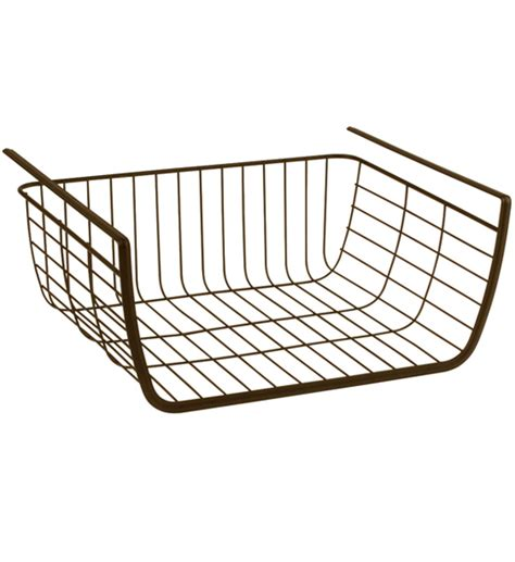 shelf storage basket bronze in shelf storage