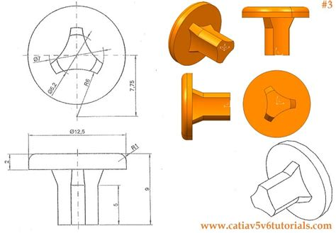 pattern a sketch catia catia v5 video tutorial 3 sketch shaft pocket