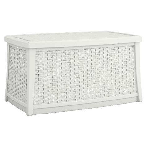 Patio Storage Table Suncast Elements Resin Patio Storage Coffee Table Ebay
