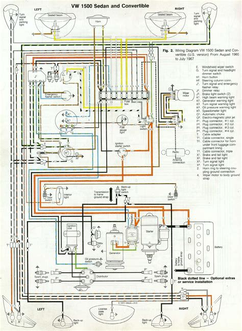 66 and 67 vw beetle wiring diagram 1967 vw beetle