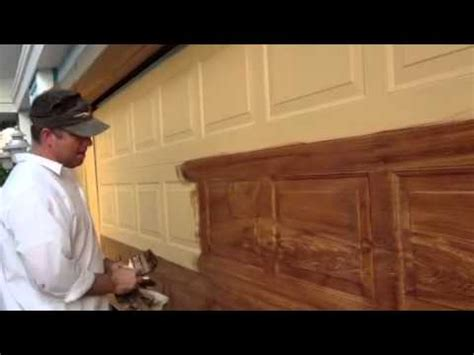 How To Paint A Metal Garage Door by Z Freeman Woodgrain On Garage Door