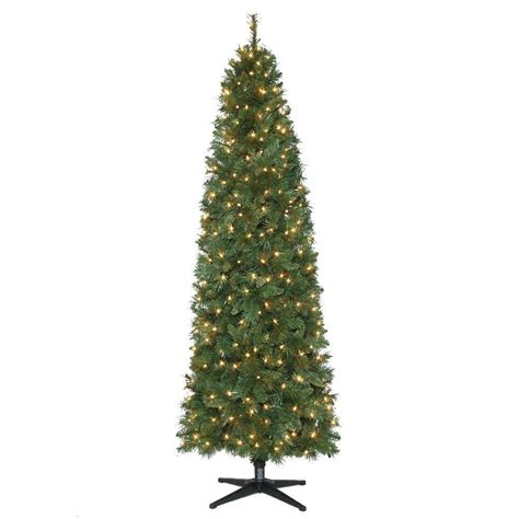 pencil tree led lights 7 ft pre lit led wesley pine artificial pencil