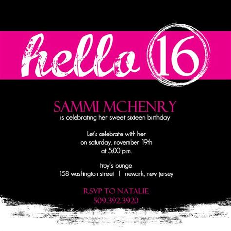 16th Birthday Card Template by Sweet 16 Invitation Cards Designs Search Sweet