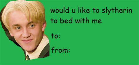 Harry Potter Valentines Meme - harry potter tom felton draco malfoy slytherin valentines