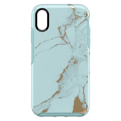 otterbox apple iphone xr symmetry teal marble target