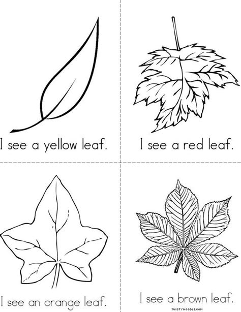 printable book about leaves fall leaves book twisty noodle