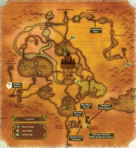 legend of zelda map scan map of hyrule in twilight princess wii version nerd