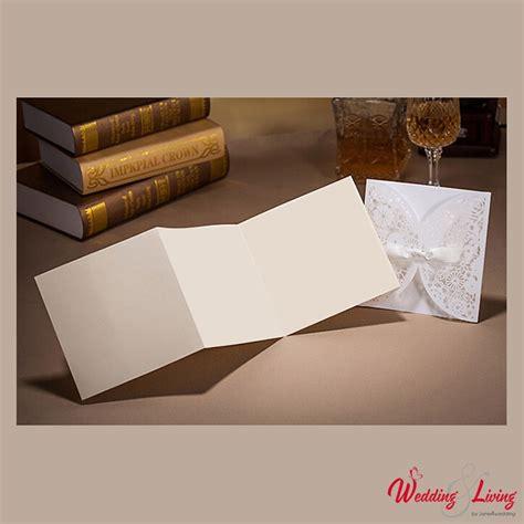 Einladungskarten Hochzeit Creme by Einladungskarte 3 Tlg Cr 232 Me