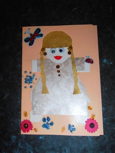 Paper Doll Craft - paper doll card my kid craft
