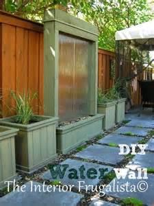 diy patio water wall the interior frugalista diy patio