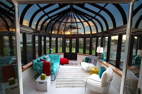 Large Round Dining Room Table Enjoy The Winter Sun Behind Glass The Conservatory