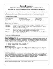 Sample Desktop Support Resume Desktop Support Technician Sample Resume Automated