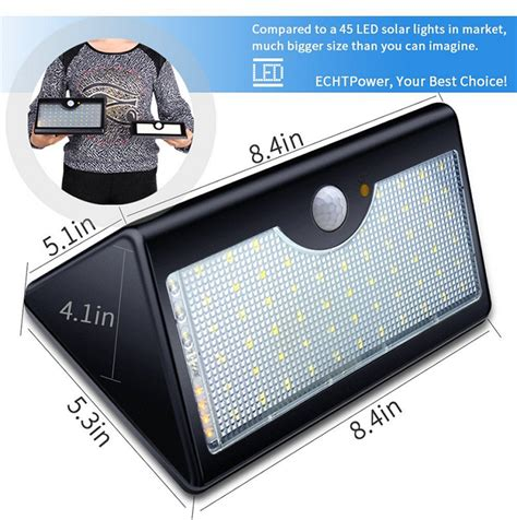 60 led wireless solar motion sensor lights outdoor with