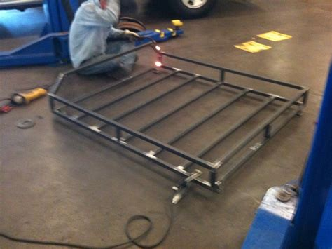 Building A Rack Mount by Roof Rack Build With High Lift Mount Jeep Forum