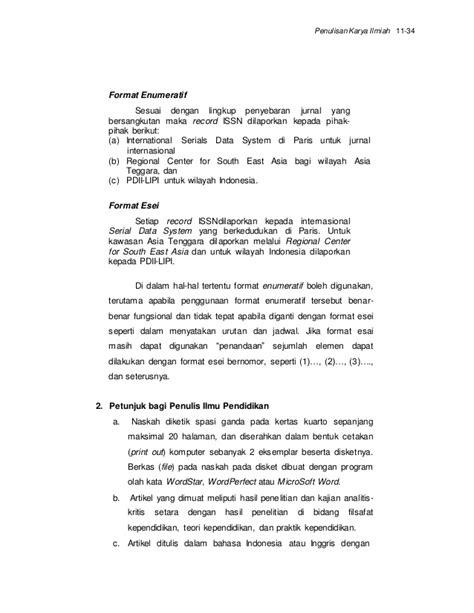 format esai penulisan karya tulis ilmiah