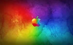 apple wallpaper in kleuren regenboog bureaublad